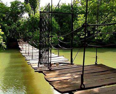 Подвесной мост Парк Солнечный Остров г. Краснодар